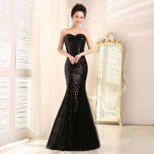 Dames robe soirée soirée de d'honneur robe formelle sirène demoiselle soirée longue de cocktail 4fqrz4