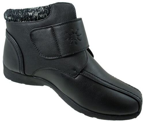 Dr Keller Joice Womens Black Ankle Easy Touch Fastening Flat  Trouser Boots