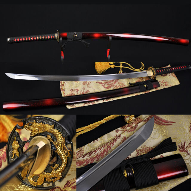 "41"" Handmade Japanese Samurai Battle Ready Dragon Sword Katana Full Tang Blade"