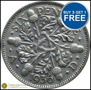 1920-TO-1936-GEORGE-V-LUCKY-SILVER-SIXPENCES-CHOICE-OF-YEAR-DATE
