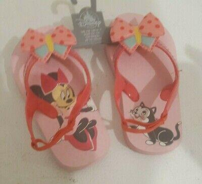 Disney Minnie Mouse /& Figaro Flip Flops Girls Sandals 5//6 7//8 9//10 11//12 13//1