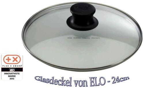 ELO Glasdeckel Sichtkochen ABS Kunststoffknauf für Pfannen 24cm Pfannendeckel B1