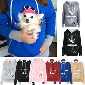 Family-Unisex-Pet-Cat-Ear-Big-Kangaroo-Pouch-Hoodie-Holder-Carrier-Sweatshirt