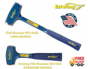 Estwing EB3//4LBL /& EB3//4LB 4lb Club Hammer with Vinyl Grip Long /& Short Handle