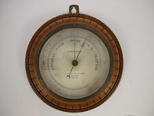 Antique Oak Cased Compensated Barometer by Negretti & Zambra. London.