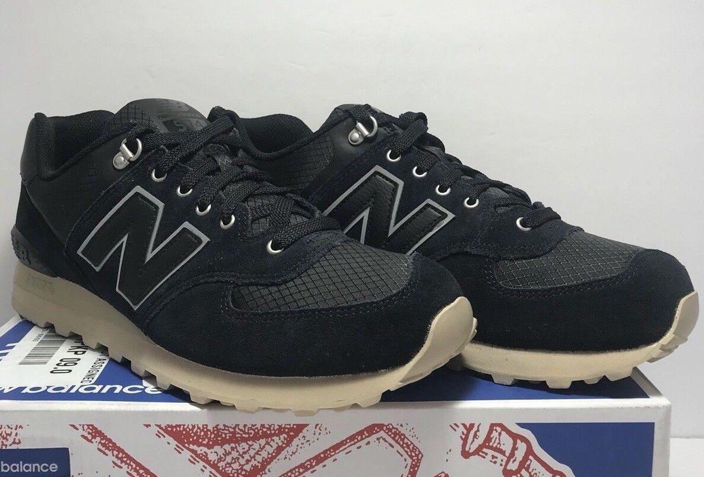 Para Hombre New Balance 574 Retro Sport Running Zapatos Azul Marino Nuevo