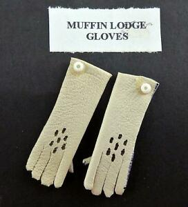 Dolls-House-Lady-039-s-Gloves-in-Cream-Miniature-Shop-Bedroom-Victorian