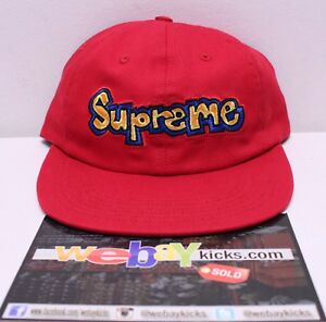 d3a6afcf98c Supreme New York NYC Gonz Logo Red Blue 6 Panel Snapback Cap Hat ...