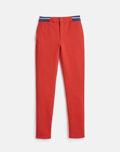 Joules Girls Jessica Rib Waist Trousers Red