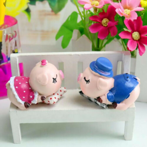 Kiss kissing Pig stand figures table car home sweets decoration gift new LP