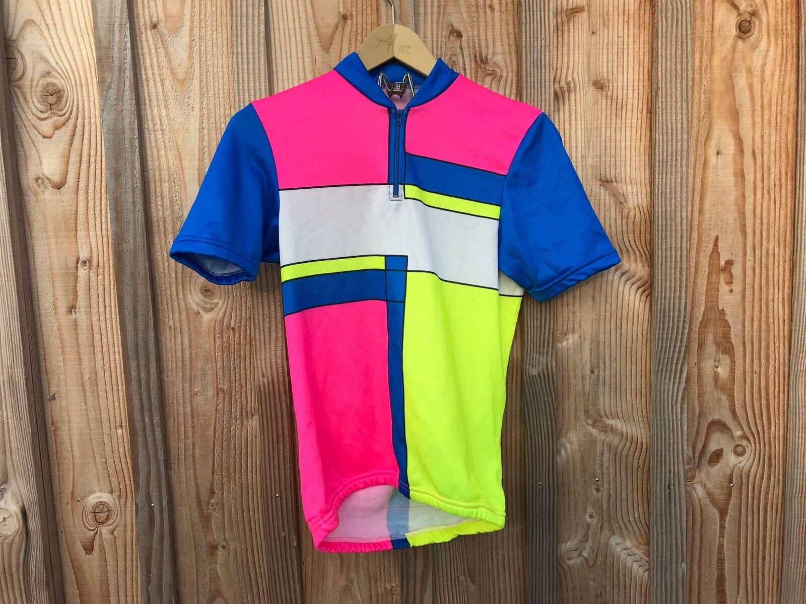 Ancien T-shirt de cycliste motif look ,t aille M , fluo , vintage , 80's