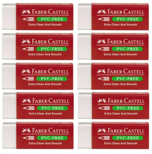 10 x Faber-Castell Radiergummi Radierer PVC-free Eraser Plastik