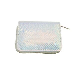 Women-039-s-Iridescent-Snake-Skin-Wallet-Coin-Purse-Clutch-Accessory-White-Pink