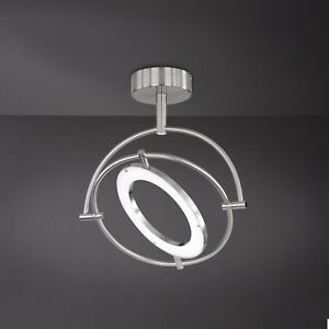 Wofi-Lampara-Led-de-Techo-Monza-1-Luz-Niquel-Ring-Ajustable-24-Vatios-1800