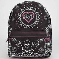 WOMEN'S GIRLS METAL MULISHA OMEN BACKPACK BLACK PINK LOGO  SCHOOL BAG NEW $55
