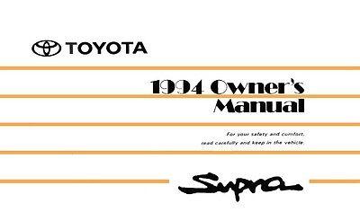 1989 Toyota Supra Owners Manual User Guide
