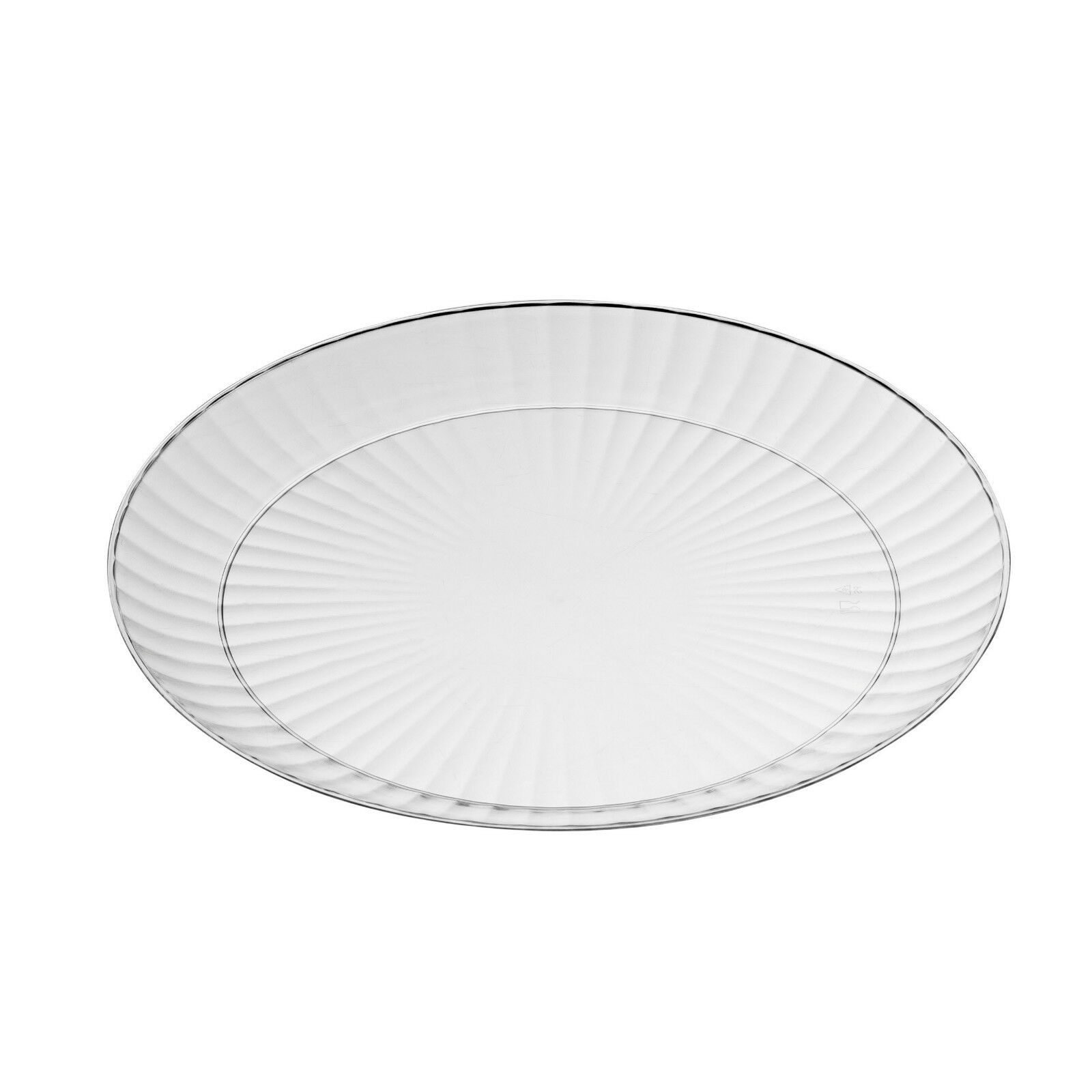 240 x  9  23cm  Dinner Plates Clear Sturdy Disposable Plastic - Party & Wedding