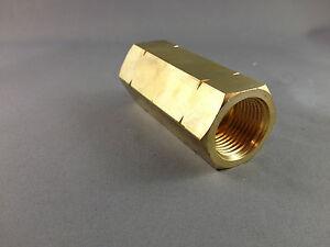 Brass-Female-POL-BBQ-CGA510-Adapter-Joiner-to-Female-POL-BBQ-CGA510-Ferrule