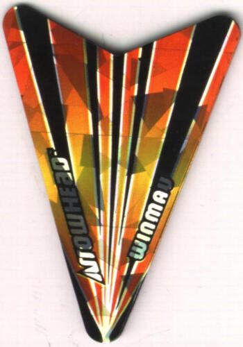 3 per set Orange and Black Arrowhead Dart Flights