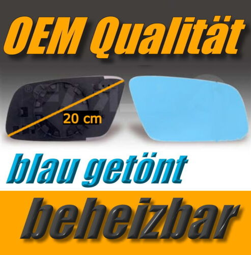 Glace polie AUDI a4 Facelift 99-01 a6 97-04 droit chauffable bleu miroir extérieur