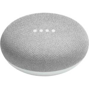 Google Home Mini Smart Speaker Voice Activated Chalk