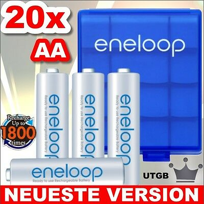 NEU 50% mehr Lebensdauer - 20 x Eneloop Mignon AA Akkus
