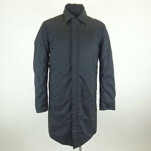 Prada Black Long Trench Style Zipper & Button Close Coat Unknown Size