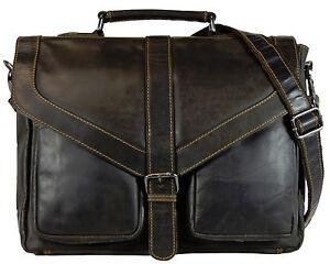 1003 Vintage Businesstasche Original Leder Greenwood Braun Büffel Aktentasche qw0BcRU