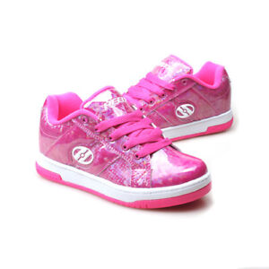 fornire un'ampia selezione di prezzo speciale per ultimo stile del 2019 Dettagli su Scarpe sportive bambina con ruote HEELYS Split rosa in pelle  rosa 770814H