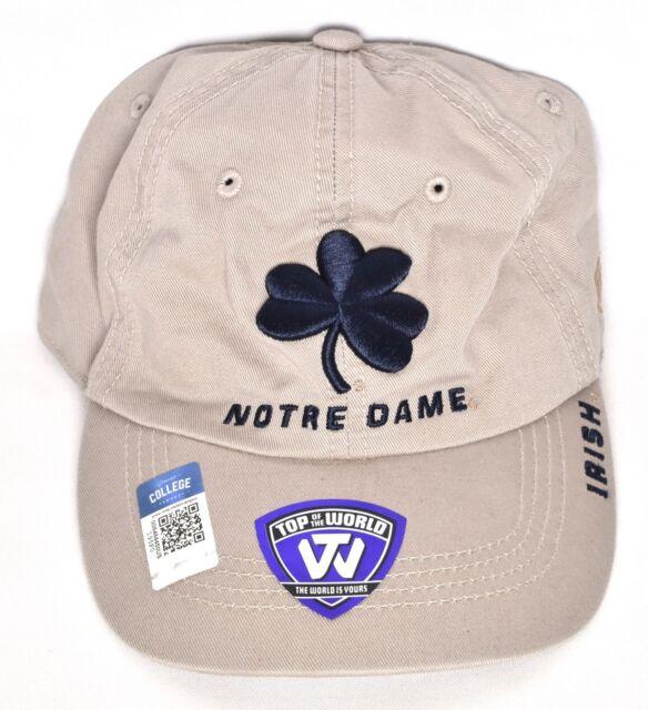 innovative design fdcbf 6e781 NOTRE DAME FIGHTING IRISH Top Of The World Adjustable Hat Cap Khaki NCAA   NEW