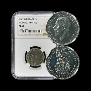 1927-Great-Britain-Shilling-Silver-NGC-PF64-Modified-Reverse-RARE-Proof