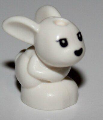 Lego White Bunny Rabbit Friends Baby Sitting w// Black Eyes and Nose Pattern
