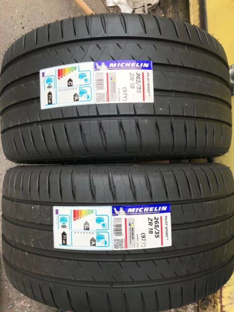 2X 265/35 ZR18 Michelin Pilot Sport 4  97Y XL Brand-New