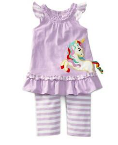 24 months NWT Rare Editions Lilac Unicorn Leggings Set
