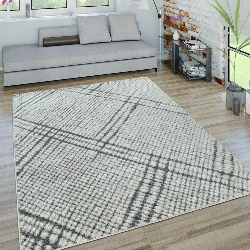 Tappeto da soggiorno a pelo corto con design dal motivo geometrico moderno a qua