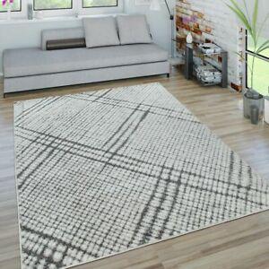 Dettagli su Tappeto da soggiorno a pelo corto con design dal motivo  geometrico moderno a qua