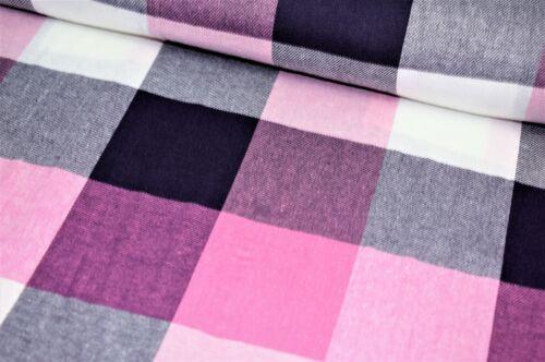 """58/"""" de ancho de alta calidad 100/% de prima de hilo teñido de tela de algodón Tartán a Cuadros"""