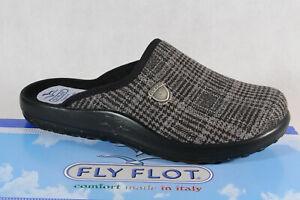 Fly-Flot-Herren-Pantoffel-Pantoletten-Hausschuhe-grau-Neu
