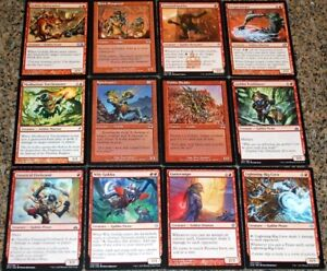 ***Collection of Red Goblins*** Tribal Deck EDH MTG Rare Magic Cards