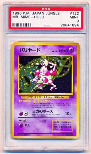 1996 Pokemon Japanese Jungle Mr Mime Holo #122 PSA 9 POP 25 QTY AVAIL