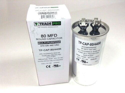 Details about  /80 mfd Capacitor Round Hvac Motor Air Compressor Pool Pump A//C 80//440 New uF