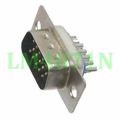2pcs Connector D-SUB DB15 DB-15 15pin male plug VGA Socket for LCD Monitor