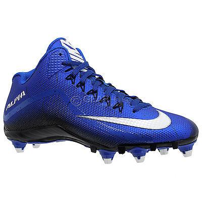 New Nike Alpha Pro 2 3/4 D Mid Mens Football Cleats Detachable Studs : Blue