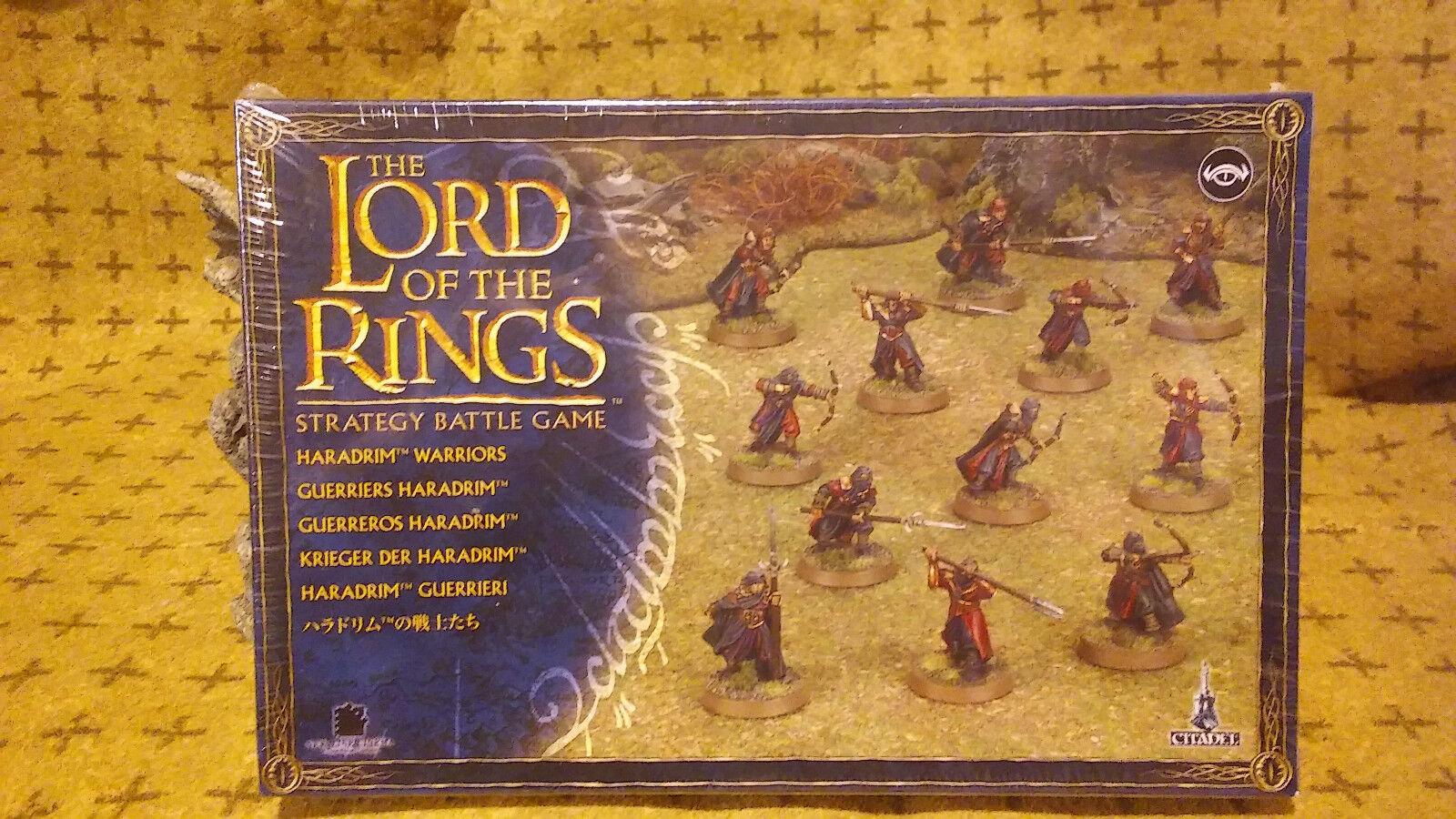 Lord of the ringar  Haradrim Warriors 'spelverkstad, Factory Sealead, fri Ship '