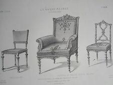 Chaise Louis XIII Fauteuil chaise légére Néo grec GARDE-MEUBLE DESTOUCHES 19éme