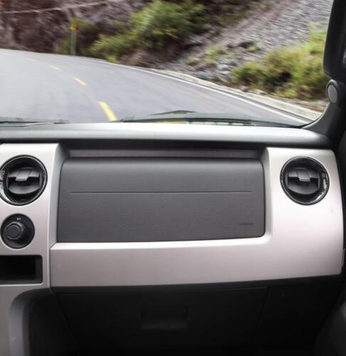 4PCS AC Air Vent Outlet Cover Bezels Frame Trim for Ford F150 09-14 Carbon Fiber