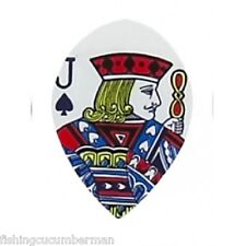 2 SETS ACE,KING,QUEEN,JACK,PLAYING CARD PEAR DART FLIGHTS