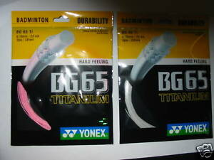 2 packets Genuine YONEX Badminton String, BG 65 Ti Titanium , Made in Japan