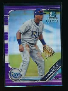 WANDER FRANCO 2019 Bowman Chrome Draft PURPLE REFRACTOR #/250 Rookie Card RC