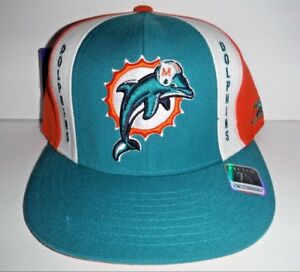 0759b7bb1d07c9 MIAMI DOLPHINS NFL VINTAGE NEW FITTED 7 3/8 REEBOK HAT NFL 100% WOOL ...